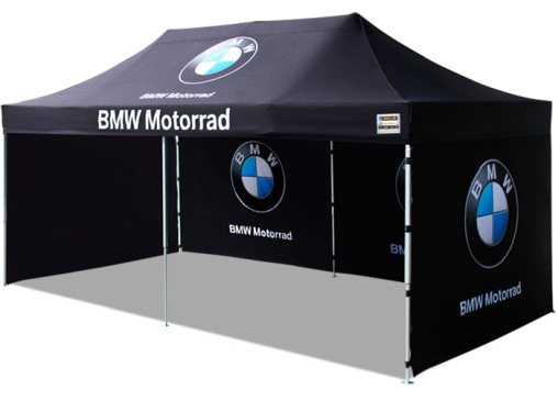 BMW marquee from our NZ company Shedline. Pop up gazebo with side panels.