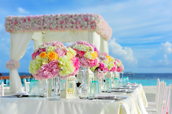 White marquee wedding idea